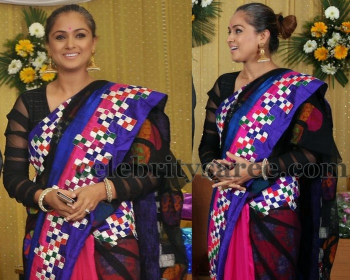 Simran in Embroidered Saree