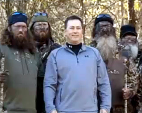 Robertson, the beardless fourth brother in Duck Dynasty's famed duck ...