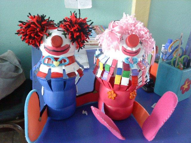 Maestra Asunción: Manualidades con Material Reciclable Aporte de