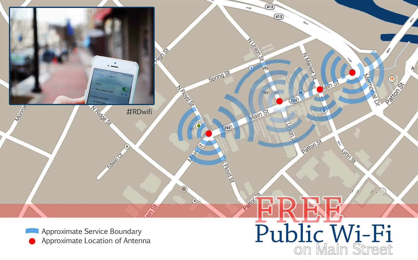 Danville VA, Virginia, River District, Downtown Danville, Free Wi-fi, #RDWifi