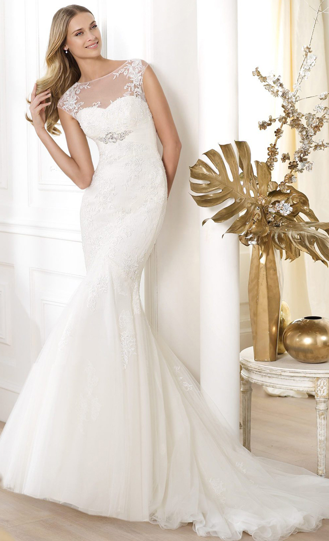 pronovias 2014 wedding dresses leonde b1 2 Pronovias 2014 Fashion Collection