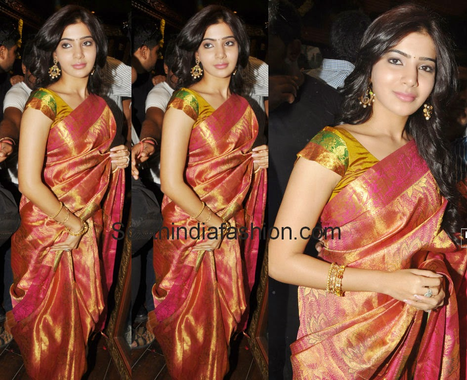 samantha in bridal silk sareees