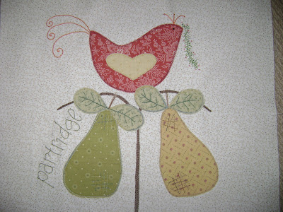 12 Days of Christmas quilt partridge pear tree