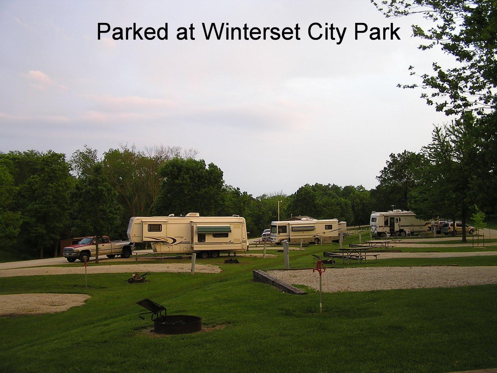 Winterset City Park Map
