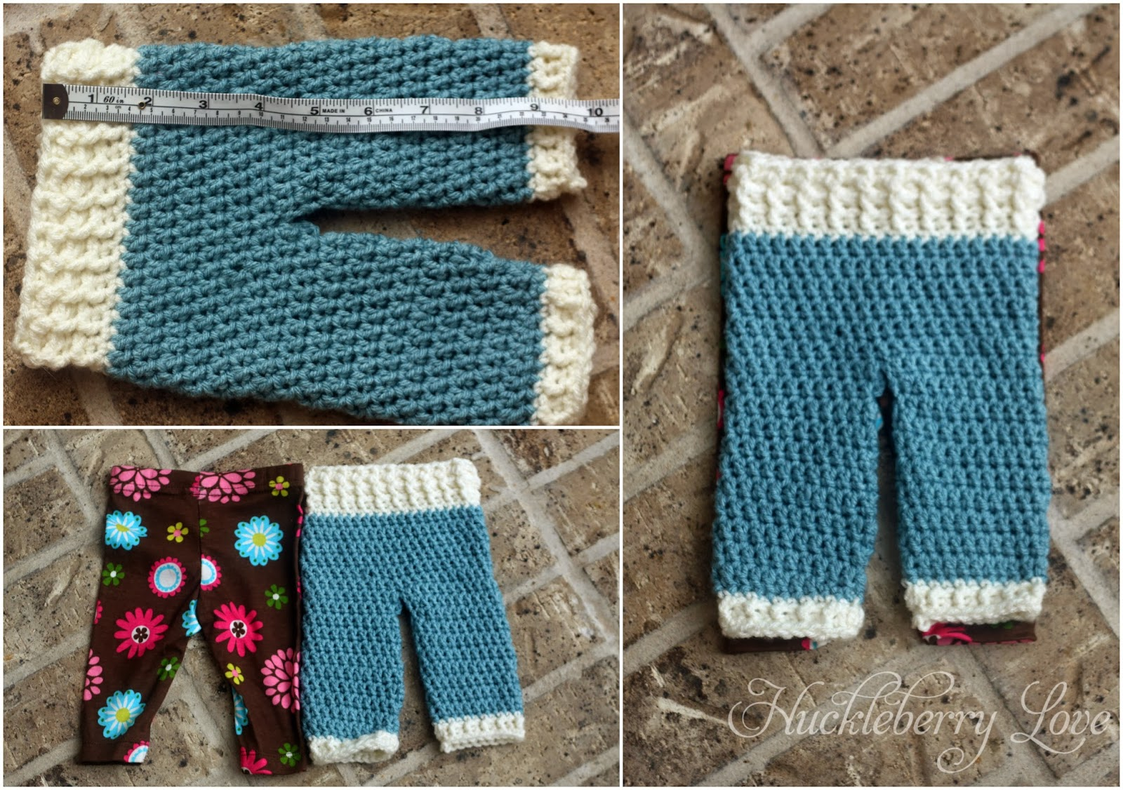 Huckleberry Love Crochet Newborn Pants