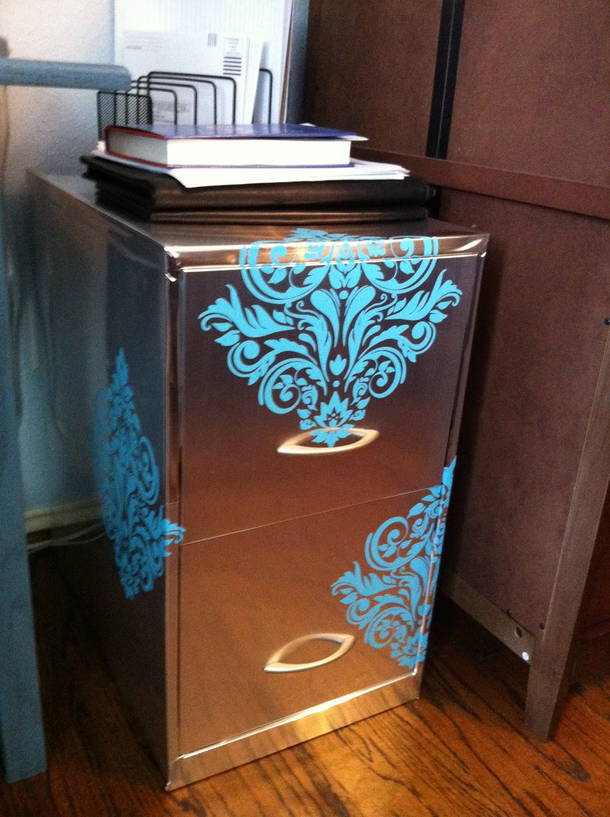 Unique DIY Fun Make A Metal File Cabinet Into A Nice Accent Piece For Any.