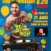 O cantor André Luvi será a principal atração da festa de aniversário dos Supermercados Show de Preço