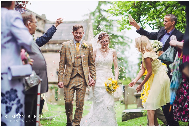Confetti throwing somerset wedding photography