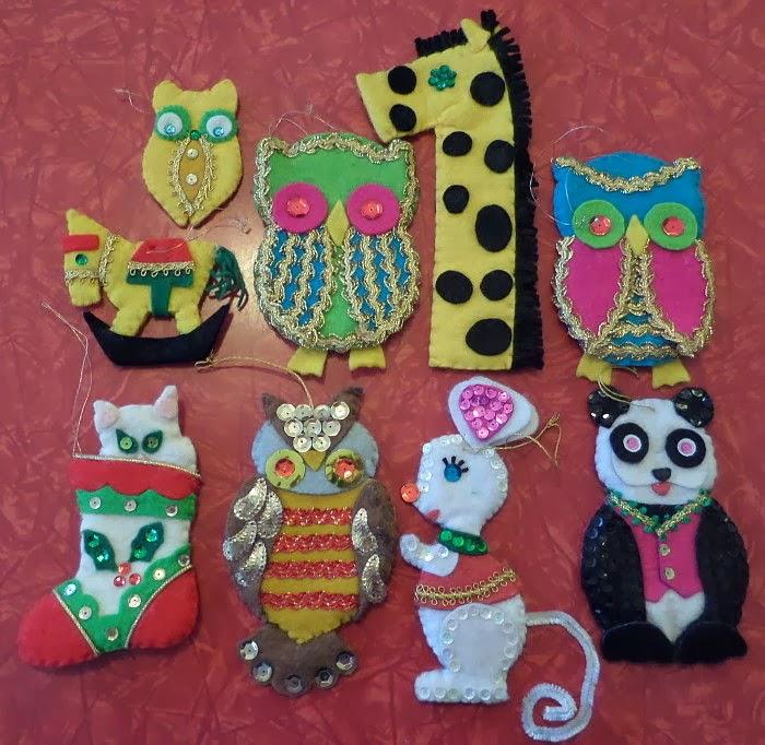 livin vintage: Vintage Christmas Craft Week: Vintage Felt