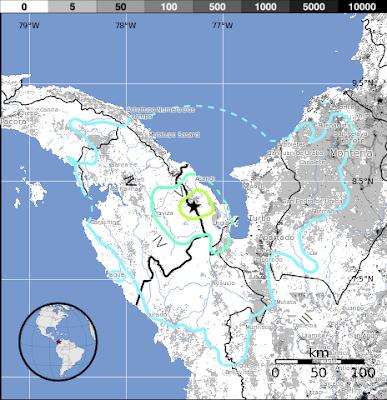 Epicentro sismo frontera Panamá-Colombia 29 de Julio 2015