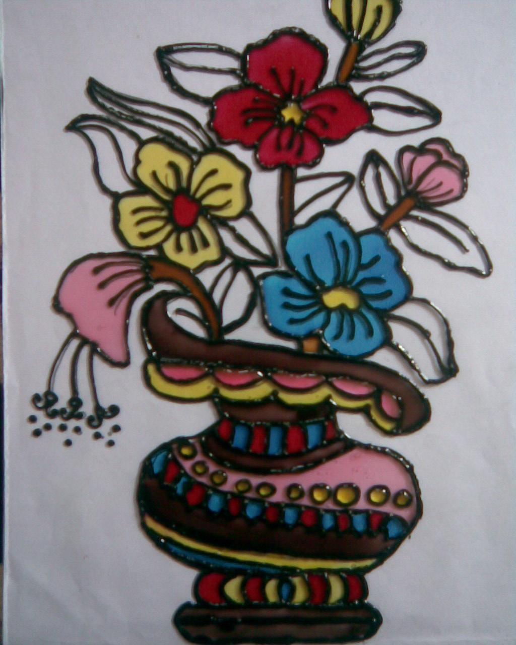 Chukki Glass Painting Designs