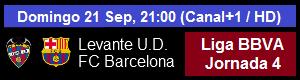 Levante vs FC Barcelona - Liga BBVA Jornada 4