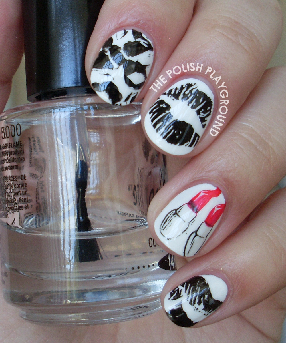 The Polish Playground: Lipstick Kisses Stamping