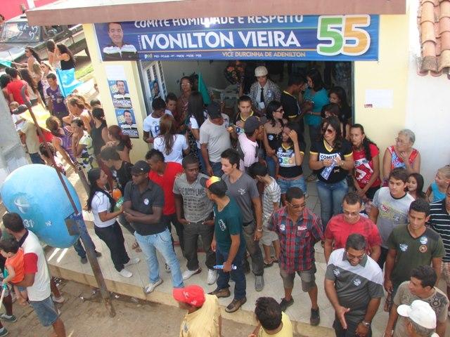 Coligação humildade e respeito inaugura comitê politico na comunidade do Riacho do Cedro: