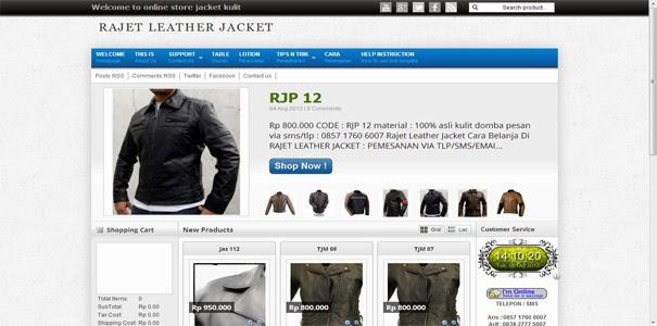 polisi online, jaket kulit