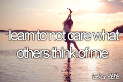 i want to NOT care what others think