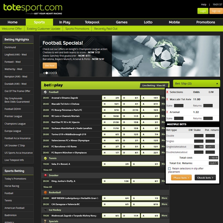 Totesport Offers