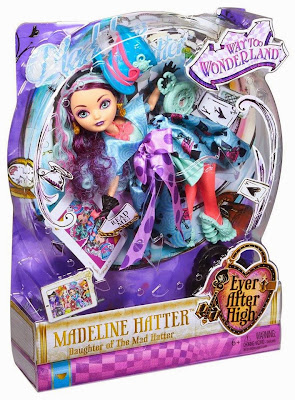 JUGUETES - Ever After High : Way Too Wonderland  Madeline Hatter | Muñeca - Doll  Toys | Producto Oficial 2015 | Mattel | A partir de 6 años
