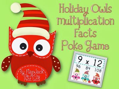 http://www.teacherspayteachers.com/Product/HOLIDAY-Owl-MULTIPLICATION-Facts-Poke-Game-995569