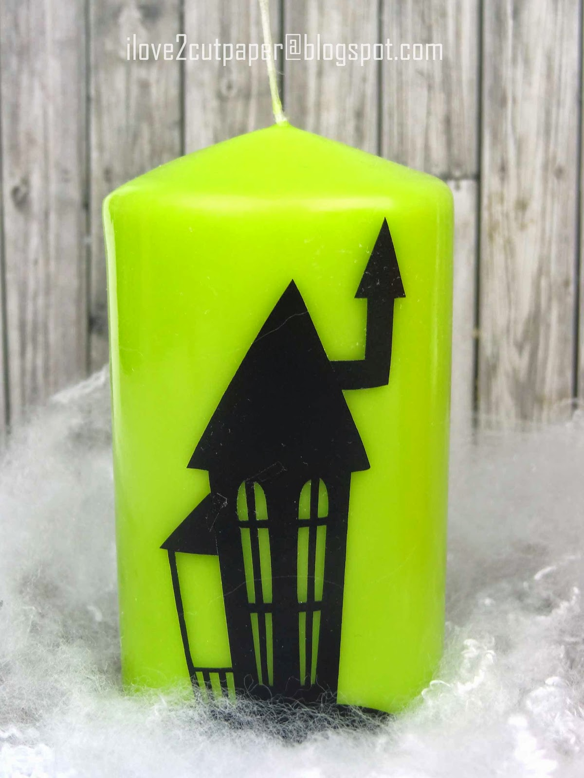 Halloween decoration on candles