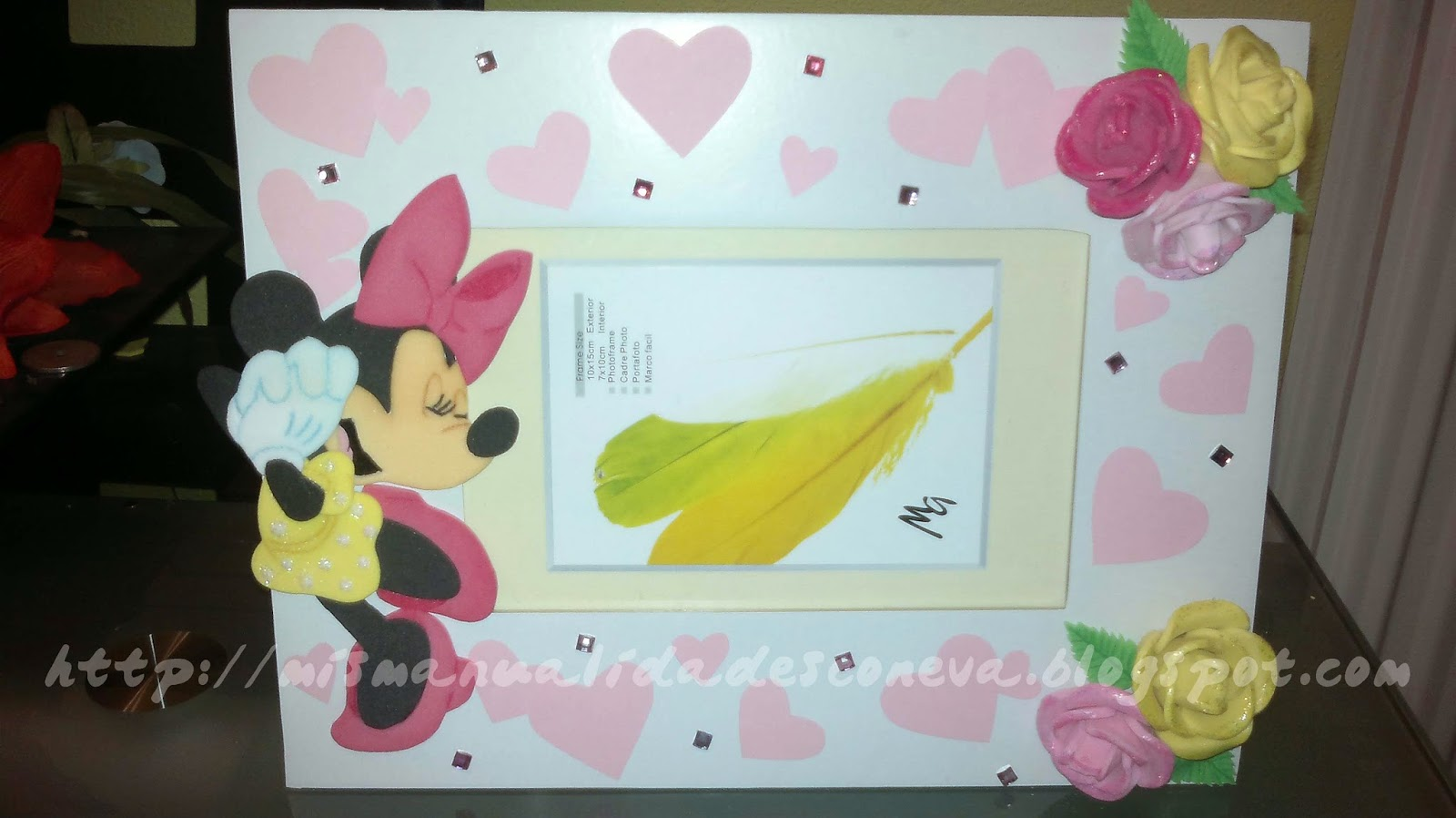 Mis manualidades con eva marco de fotos minnie mouse - Marcos fotos manualidades ...
