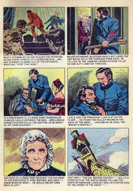 Atomic kommie comics reading room abraham lincoln life story this section of dells never reprinted one shot abraham lincoln life story 1958 was written by gaylord dubois pencilled by john buscema fandeluxe Gallery
