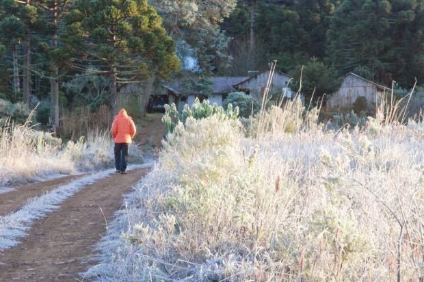 Neve em Serra Catarinense