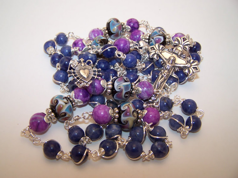 No. 14.  Our Lady Of Seven Sorrows Rosary- New- Now available on ETSY and EBAY