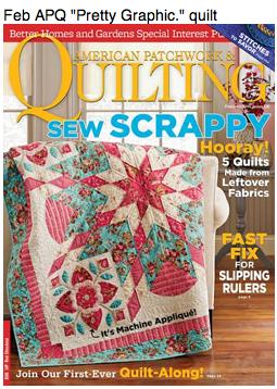 """Pretty Graphic"" quilt APQ Feb."