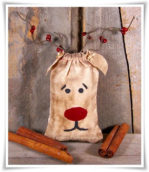 Grungy Reindeer Ornie