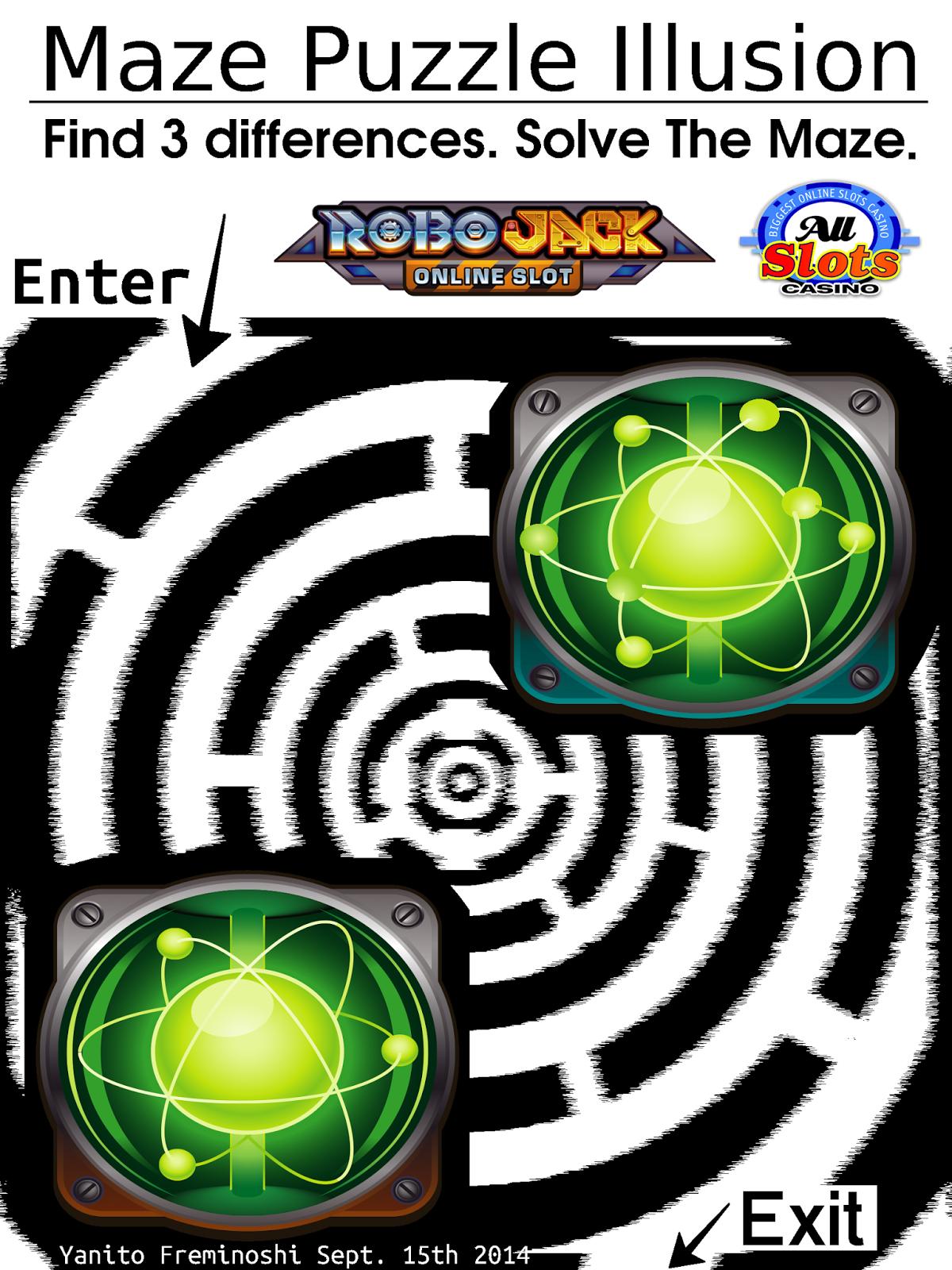 green atom maze puzzlillusion