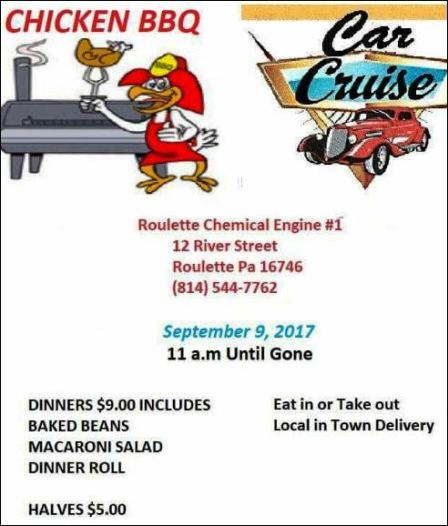 9-9 Chicken BBQ & Car Cruise Roulette VFD