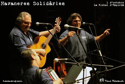 L'Espingari a la cantada d'havaneres Solidàries de La bisbal d'Empordà