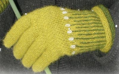 Grønne hansker