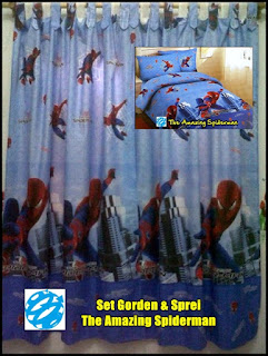 Gorden Anak Motif Spiderman, Gorden Anak Karakter Spiderman, Gorden Motif Spiderman Murah