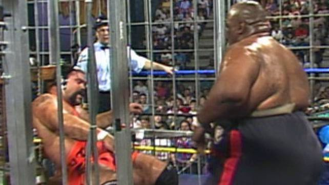 WCW Halloween Havoc 1991 - Rick Steiner and Abdulah the Butcher in Chamber of Horrors