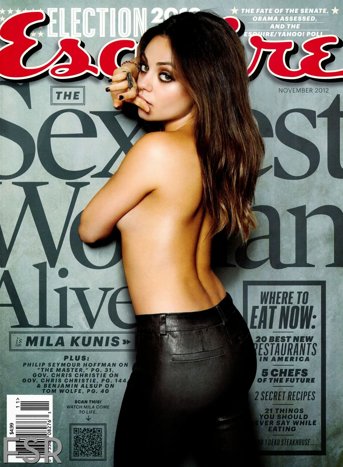 www.CelebTiger.com Mila+Kunis+ +Esquire 01 Mila Kunis Topless Photoshoot For Esquire Magazine HQ Photos
