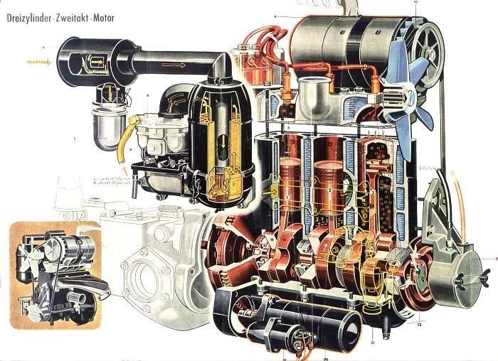 saab 2 stroke engine diagram