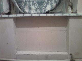 стены на кухне выровнены ГВЛ