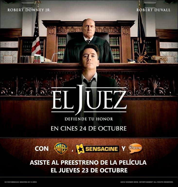 """Cartel preestreno de """"El Juez"""" en Sevilla"""