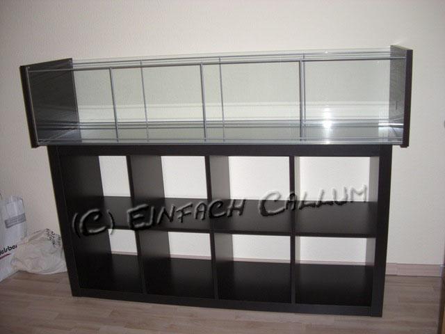 Vitrine Detolf Ikea Occasion ~ Umgelegt ergeben sich folgende Außenmaße 164cm (Länge) x 43cm