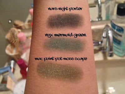 sombras verdes swatches