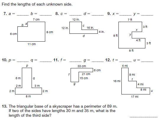 Calculating area worksheets pdf