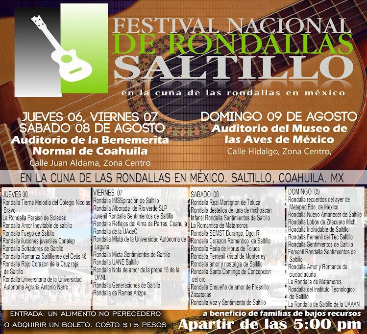 Festival Nacional de Rondallas Saltillo 2015