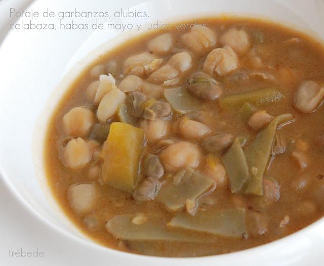 Tr bede cocido o potaje de garbanzos alubias blancas - Potaje de garbanzos y judias ...