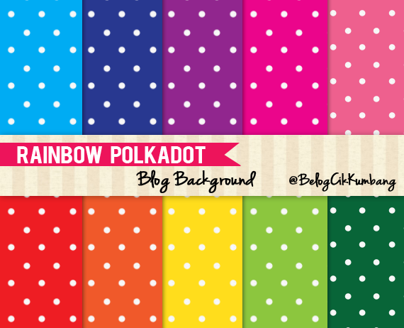 Rainbow Polka-Dot Blog Background