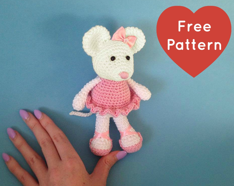 Amigurumi Patterns Free Mouse : Heart & Sew: Ballerina Mouse - Free Crochet / Amigurumi ...