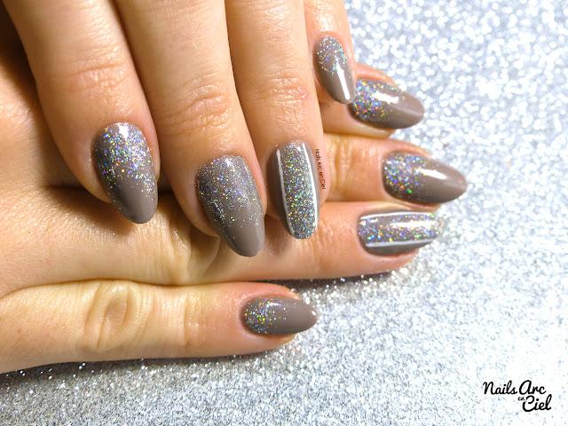 Nail art - Féerie pailletée spécial fêtes par Nails Arc en Ciel avec Nocibé