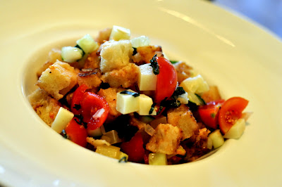 Panzanella at Osteria del Castello - Gaiole in Chianti, Italy - Photo by Taste As You Go