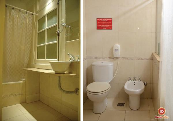 tour pelo hostel suites obelisco em buenos aires, argentina - banheiro, bathroom, restroom, toilet